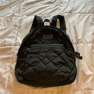 Marc Jacobs black silky backpack